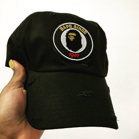 By Lee Apparel Bape Since Distressed Dad Hat - Pick Colour