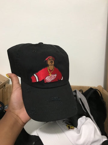 By Lee Apparel Tupac Spit Distressed Dad Hat