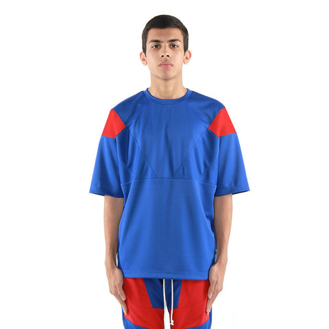 Eptm Engineered Color Block Tee - Blue/Red