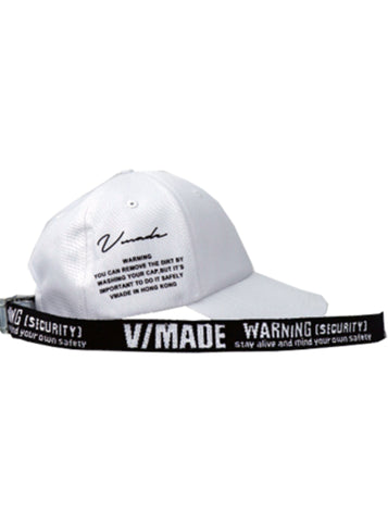 VMADE Official Adjustable Strapback Cap - White/Black