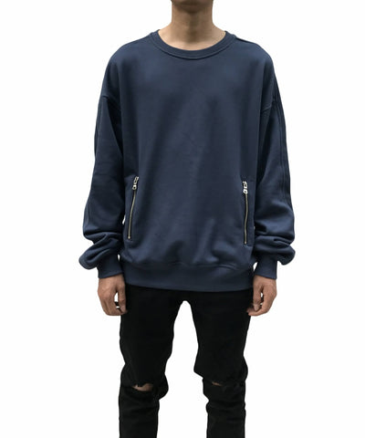 Urkoolwear Zip Sweater - Navy