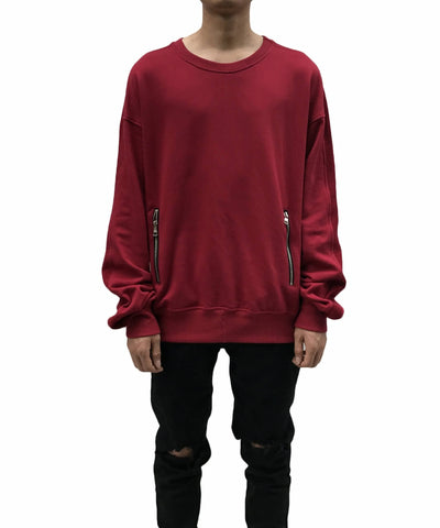 Urkoolwear Zip Sweater - Blood Red