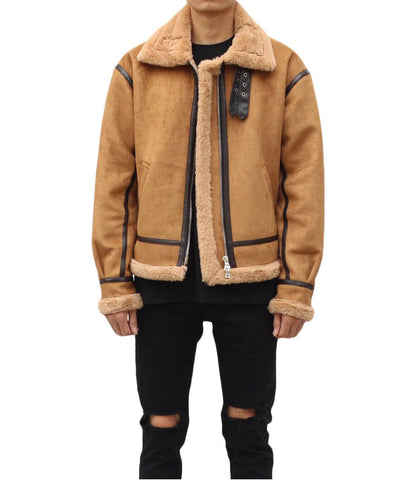 Urkoolwear Sherling Jacket - Tan