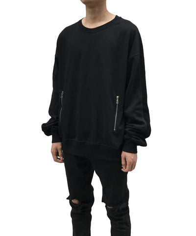 Urkoolwear Zip Sweater - Black