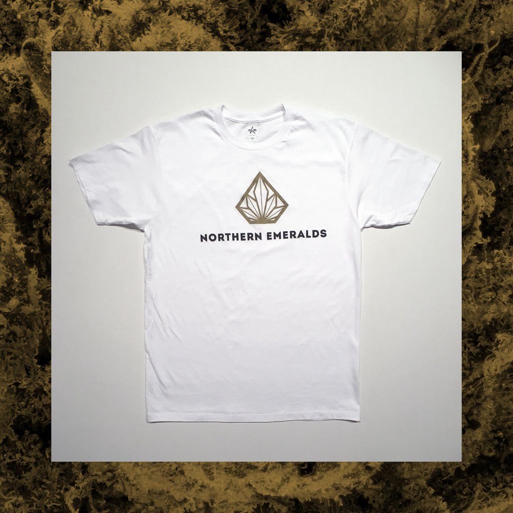 WHITE NE LOGO T-SHIRT