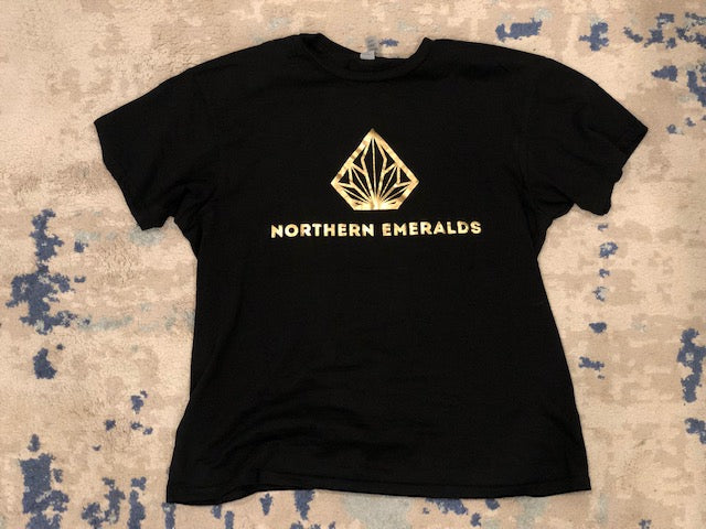 Short Sleeve T-Shirt Gold On Black