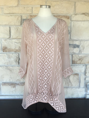 Blush Embroidered Tunic