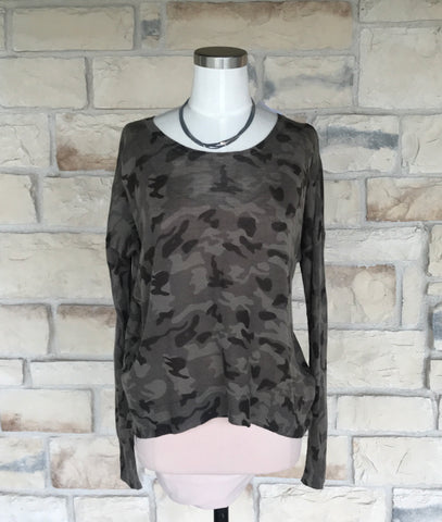 Zipper Sweater Camo