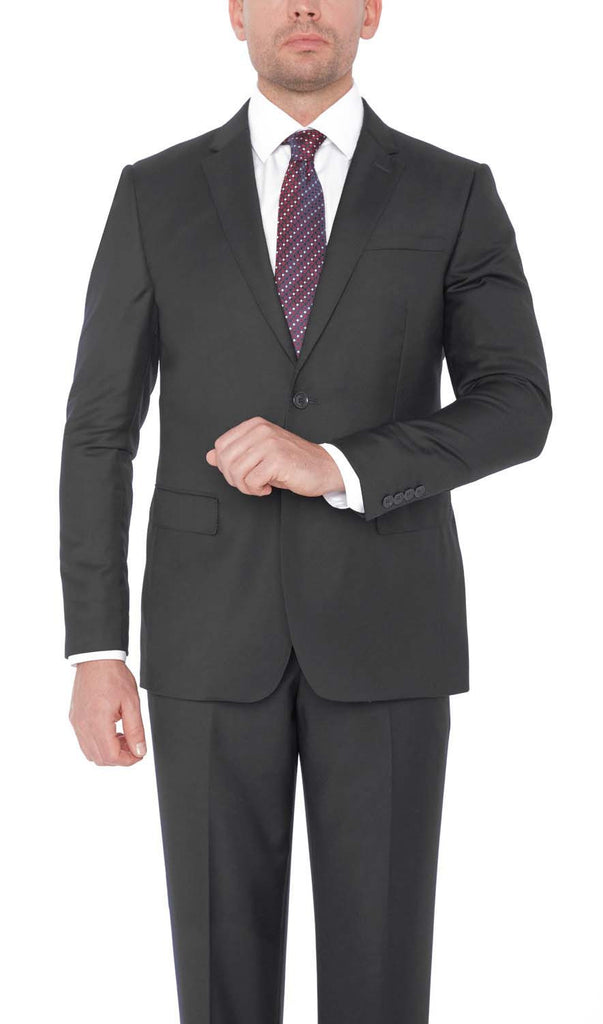 21201 Charcoal Giorgio Sanetti 100% Wool Modern Fit Suits