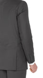 2133 Charcoal Fellini Uomo Solid Slim Fit Suits