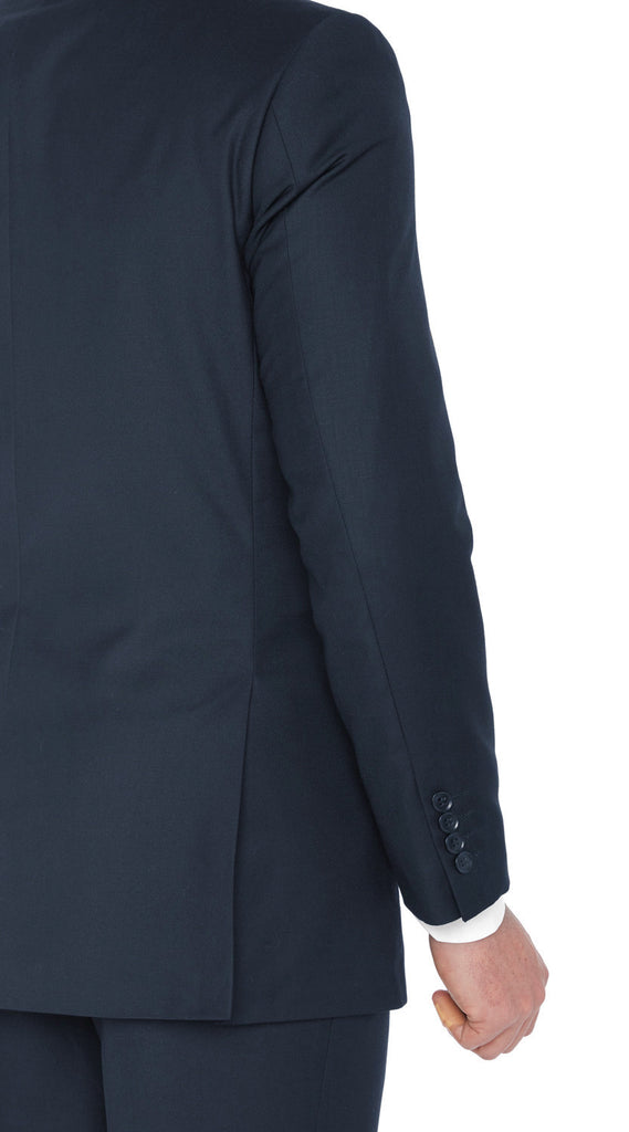 2133 Navy Fellini Uomo Solid Slim Fit Suits