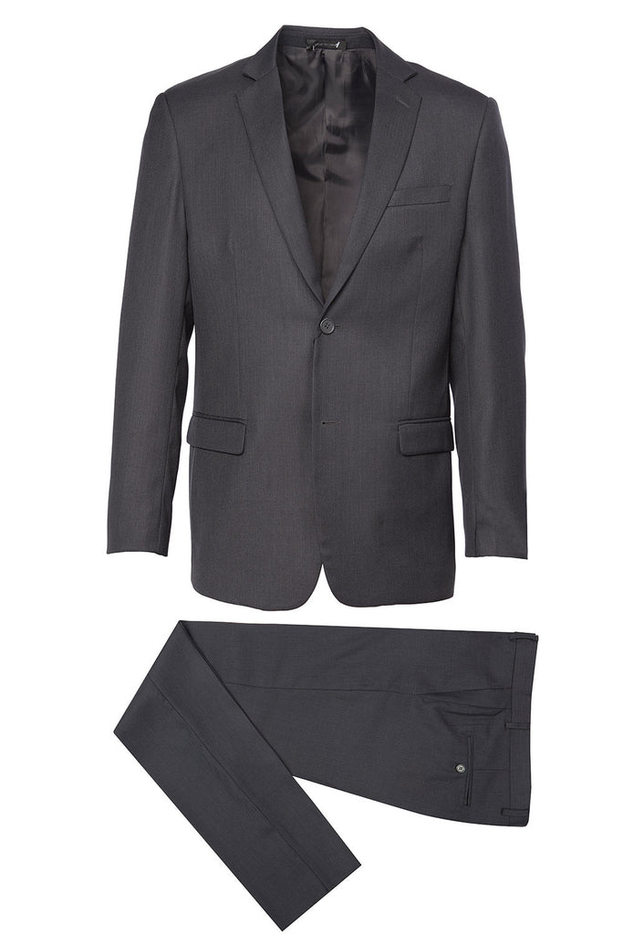 718 Mundo Charcoal Suit w/ black lining