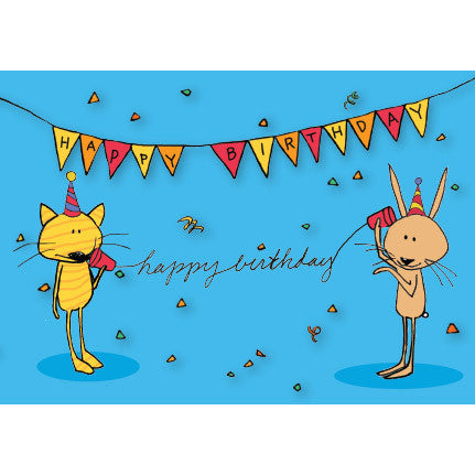 Cup Phone Cat Birthday Card For Kids 72 Bumblebee Lane