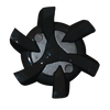 Stealth Golf Cleats (PINS) | Black/Grey