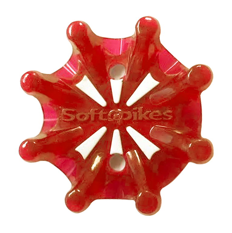 Softspikes Pulsar Golf Cleats (Tour Lock) | Cherry/White