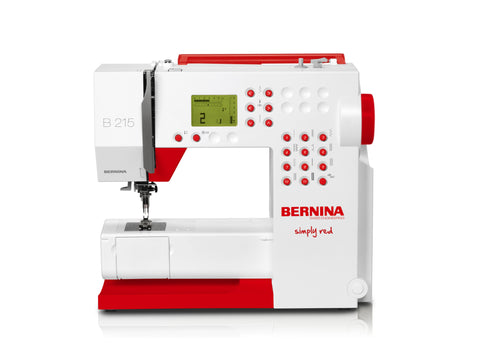 Bernina 215 Simply Red - Quilteez Ltd