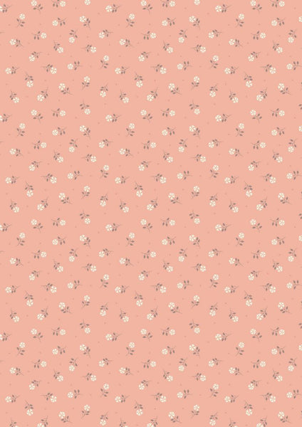 Lewis and Irene - Flo's Little Flowers - FLO1.2 Peach Tiny Flower - Quilteez Ltd