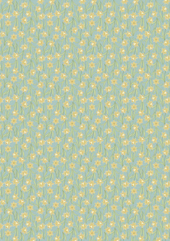 Lewis and Irene - Flo's Little Flowers - FLO3.3 Daffodils on Sage