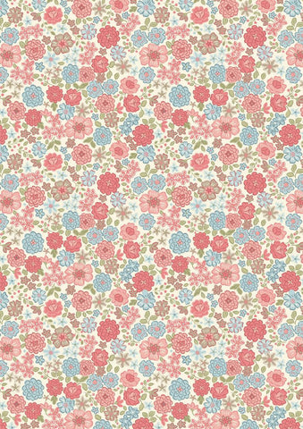 Lewis and Irene - Flo's Little Flowers - FLO4.1 Pink and Blue Blooms