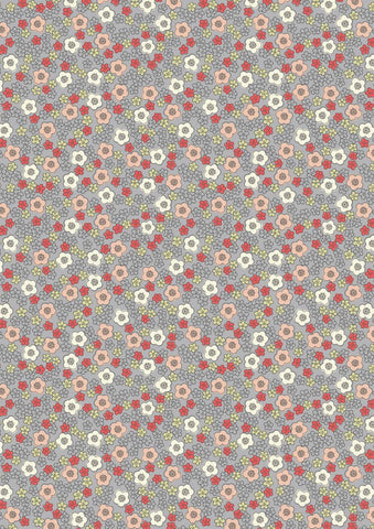 Lewis and Irene - Flo's Little Flowers - FLO5.1 Ditzy on Grey