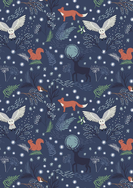 Lewis & Irene - A Countryside Winter - Winter Animals Midnight C17.2