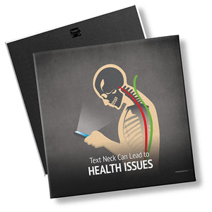 Text Neck Can Lead to Health Issues - Left Facing - MyChiroPractice | Chiropractic Posters