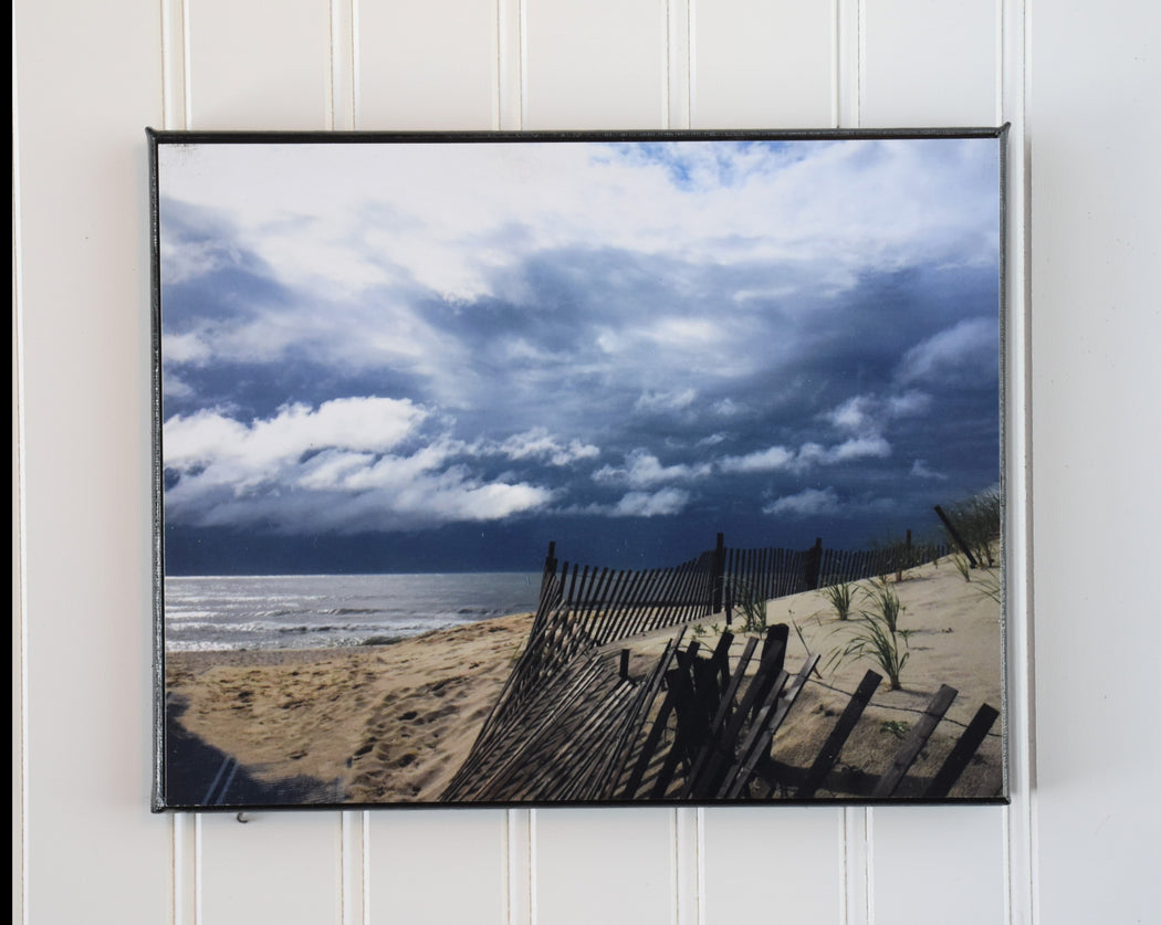 coastal stormy photo canvas