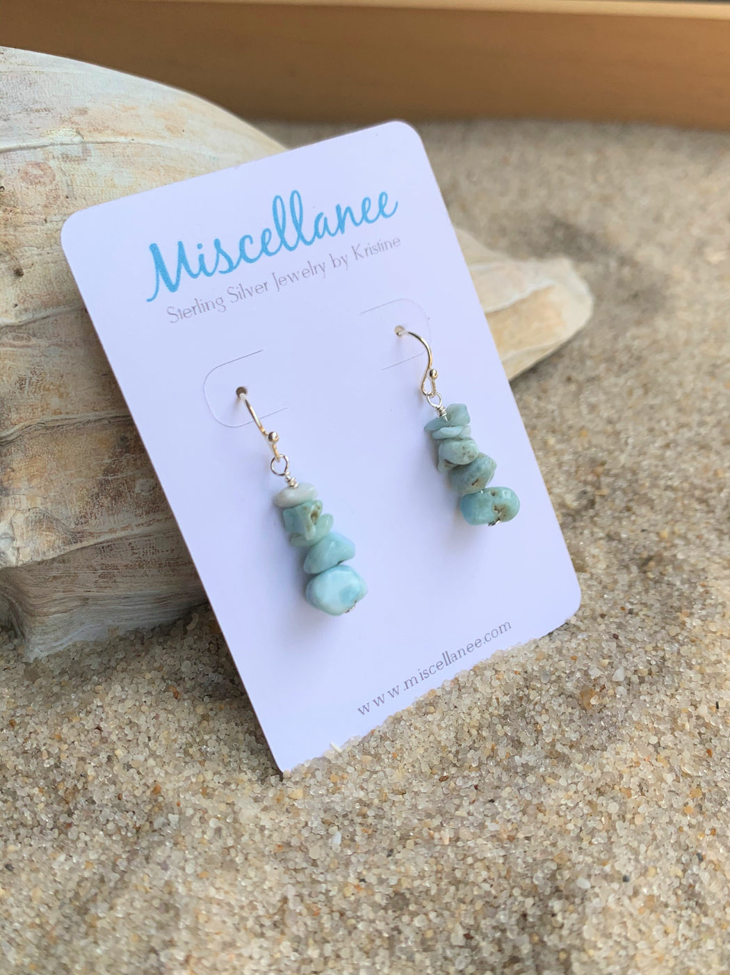 Larimar Earrings | Beach Earrings | Boho Earrings | Bridesmaid Earrings