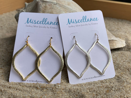 Marquise Hoop Earrings | Summer Earrings | Dangle Hoop Earrings