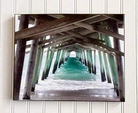 Canvas Photo of Bogue Inlet Pier in Emerald Isle, NC | Beach Lovers Gift