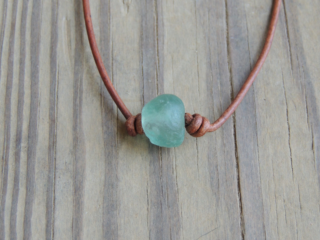 Mens Leather Necklace | Mens Surfer Necklace | Gift for Him