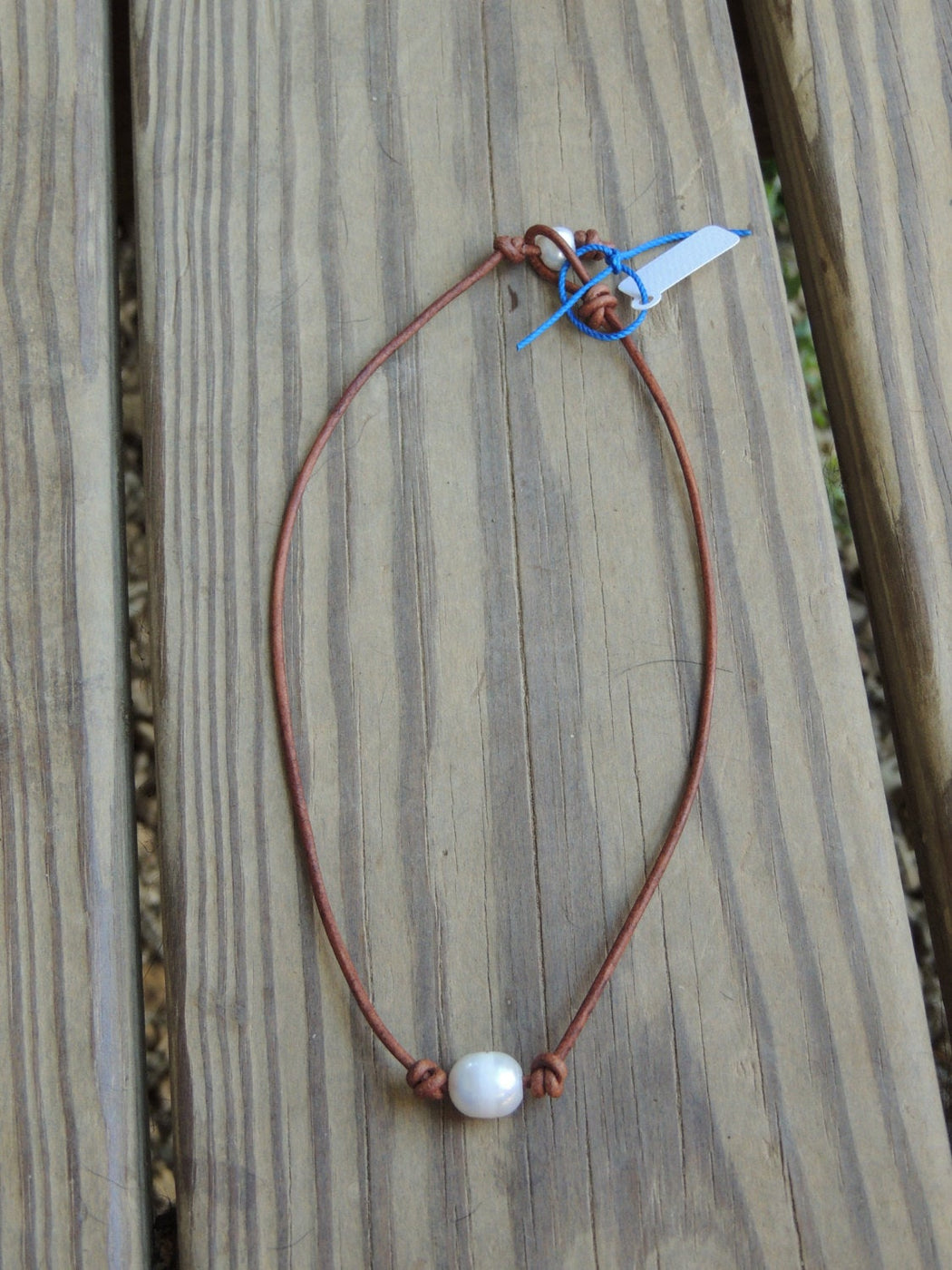 Freshwater Pearl Leather Necklace | Beach Necklace | Beach Lover Gift