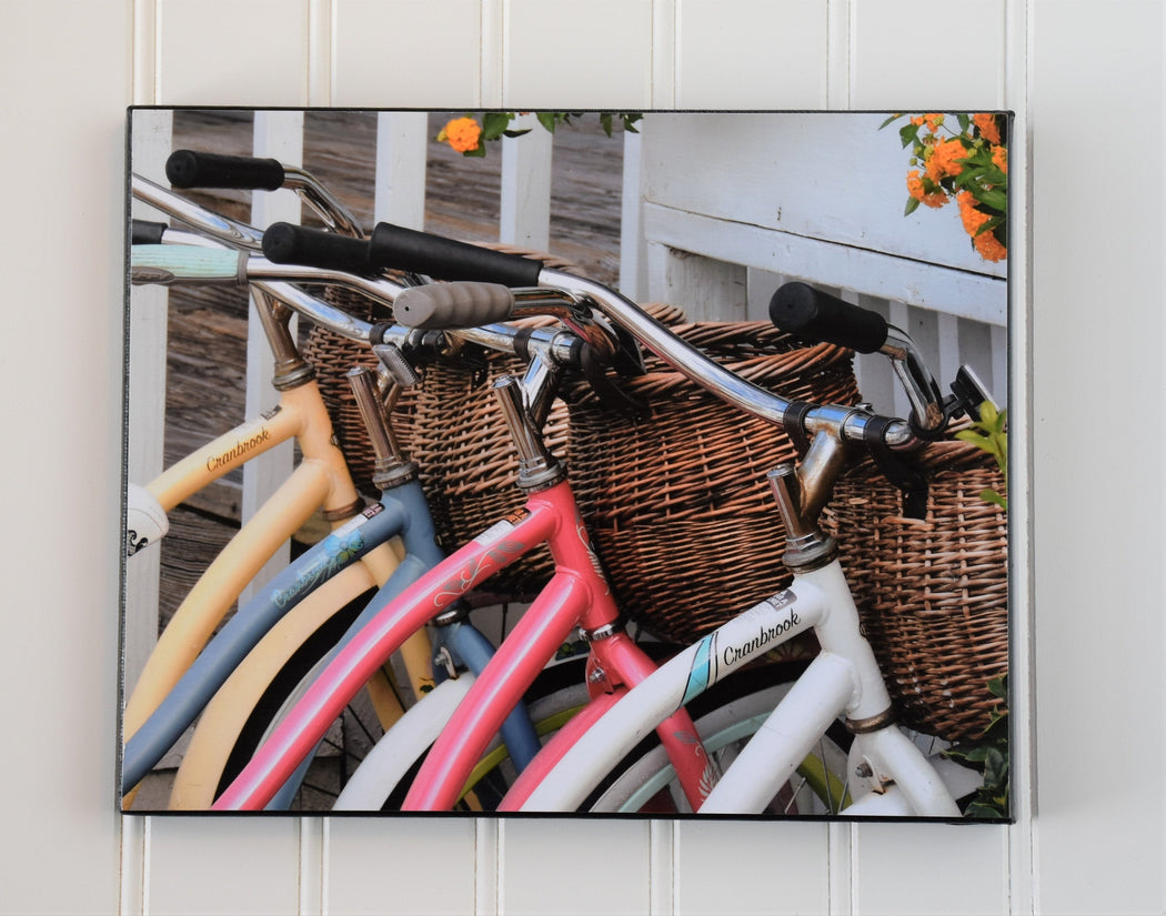 Beach Bike Canvas Photo | Bike Lovers Gift