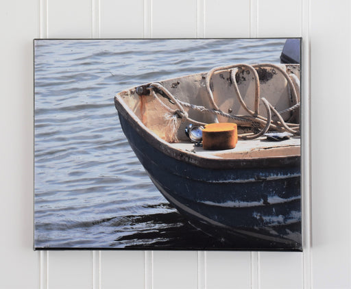 Rustic Boat Canvas Photo | Beach House Decor