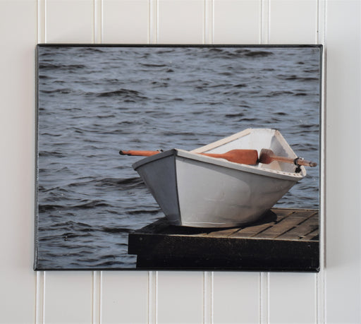 Row Boat on Dock Canvas Photo | Boat Lovers Gift