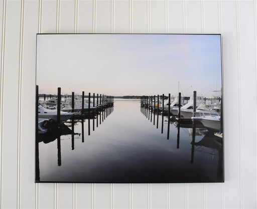 Boat Marina in NJ Canvas Photo | Beach House Decor