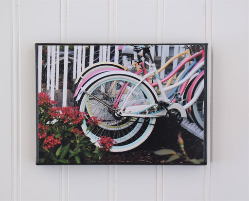 Beach Bikes in Beaufort NC Canvas Photo | Bicycle Wall Art