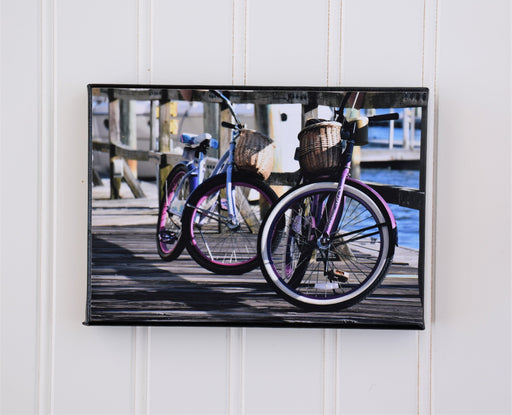 Beach Bikes Canvas Photo | Gift for Cyclist