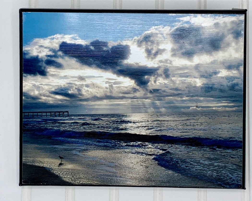 beach sunrise canvas photo