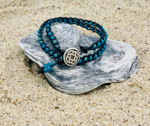 celtic knot button wrap bracelet