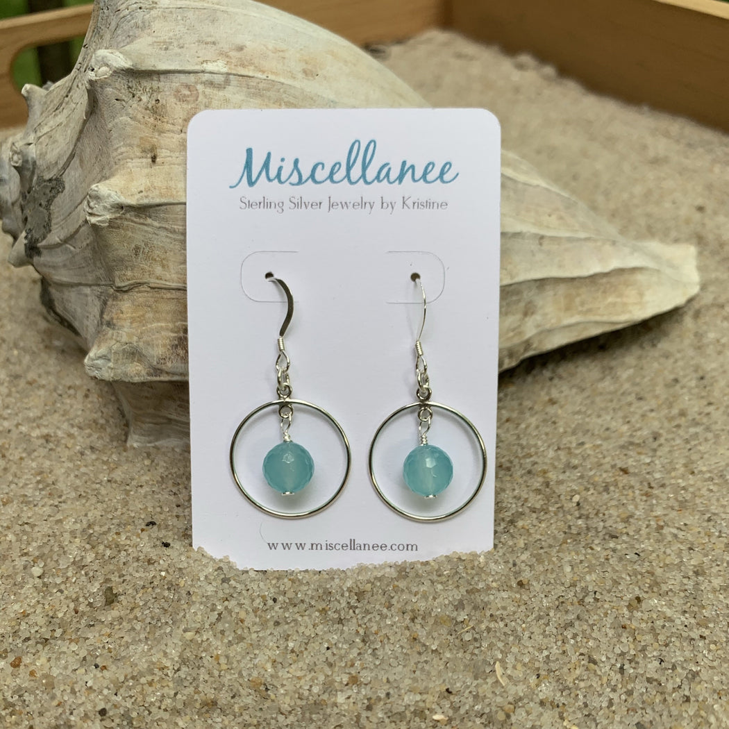 chacedony sterling silver earrings