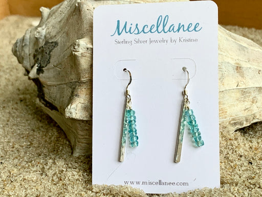 Apatite Sterling Silver Earrings | Bohemian Earrings | For the Beach Lover