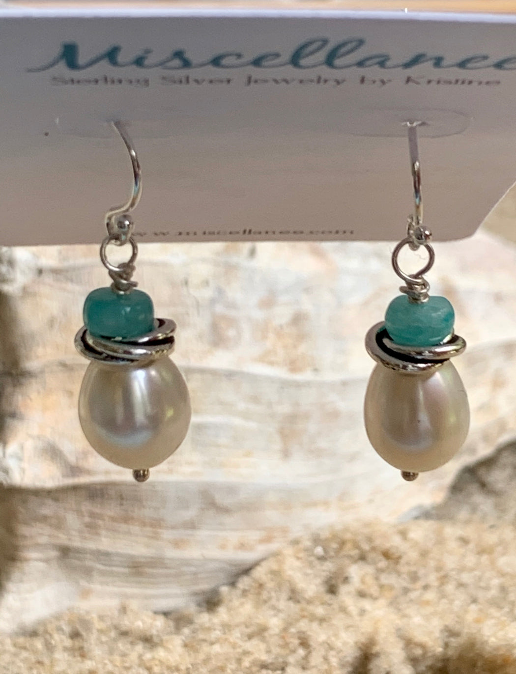 Freshwater Pearl Dangle Earrings | Beach Chic Earrings