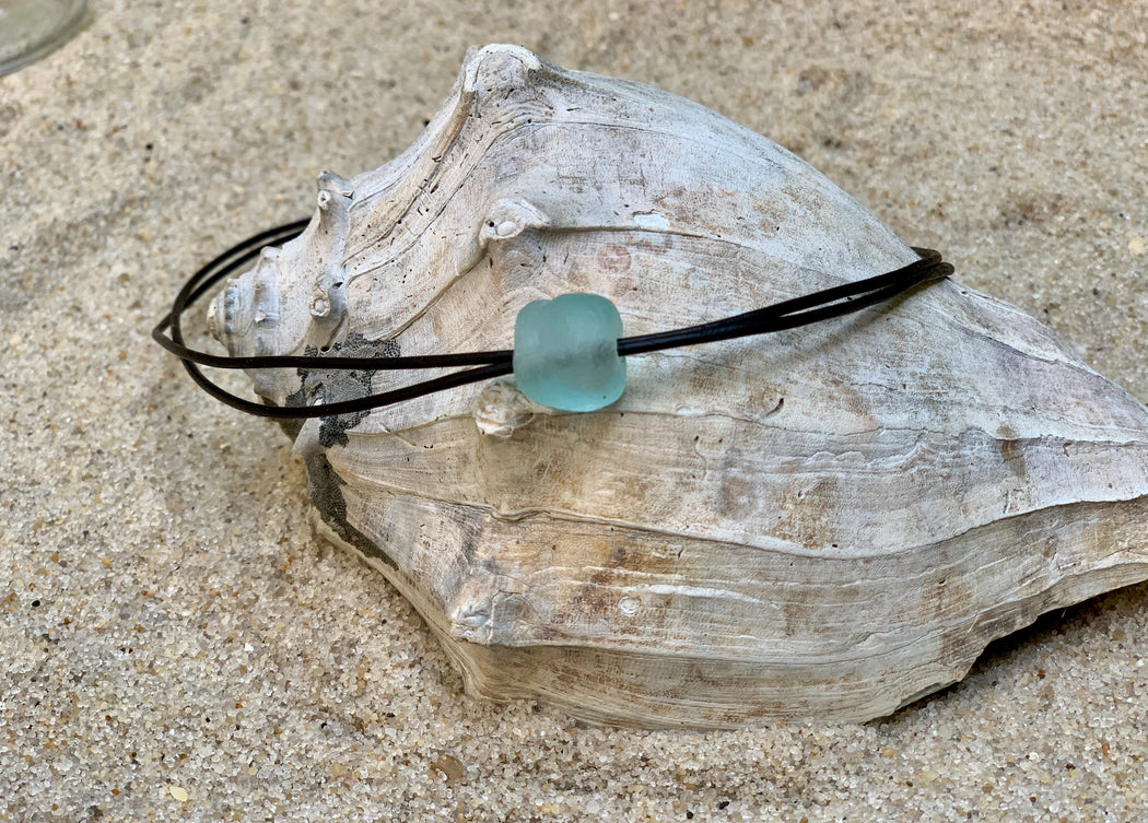 Womens Beach Necklace | Boho Leather Necklace | For the Beach Lover