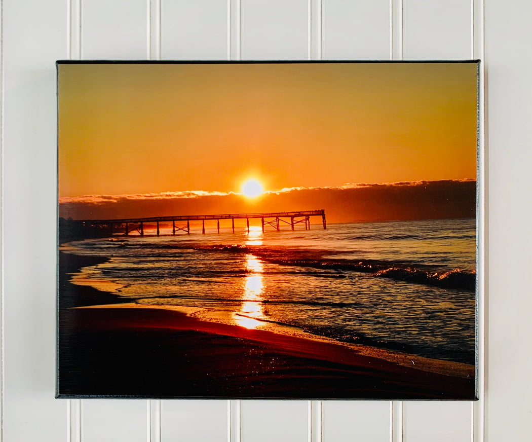 Beach Sunrise Canvas Photo | Beach Wall Decor | Beach Lovers Gft