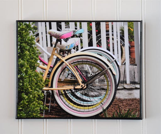 Canvas Photo of Beach Bike Tires | Bike Wall Art