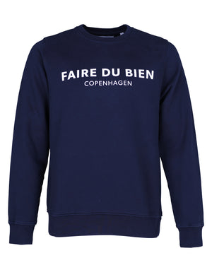 Faire Copenhagen Sweat - Navy Blue