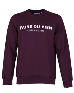 Faire Copenhagen Sweat - Bordeaux - FAIRE DU BIEN