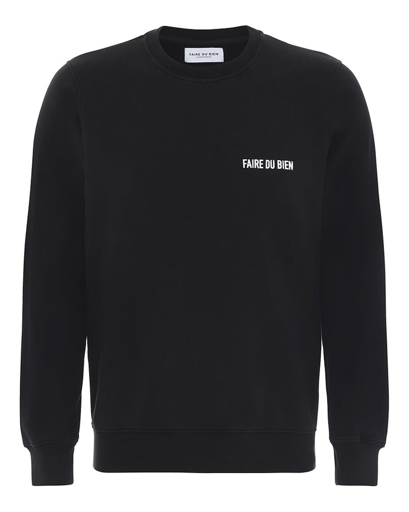 Paul Sweatshirt - Black - FAIRE DU BIEN