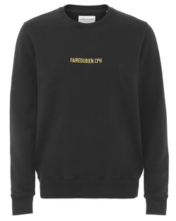 Vincent Sweatshirt - Black - FAIRE DU BIEN
